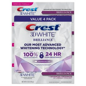 Crest 3D White Brilliance Advanced Whitening Toothpaste (4.1 oz., 4 pk.)