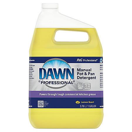 Dawn Professional Manual Pot and Pan Detergent, Lemon Scent, 1 Gallon