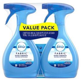Febreze Fabric Refresher, Pet Odor Eliminator and Extra Strength (27 oz., 2 pk.)