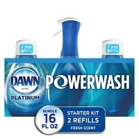 Dawn Platinum Powerwash Dish Spray, Dish Soap, Fresh Scent Bundle, 1 spray (16 oz.) plus 2 refills (16 oz. ea.)