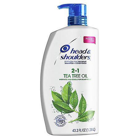 Head & Shoulders Dandruff Shampoo and Conditioner with Tea Tree Oil (43.3 fl., oz.)