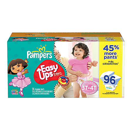 Pampers Easy Ups, Girls, Size 5 (30-40 lbs ), 96 ct  - Sam's