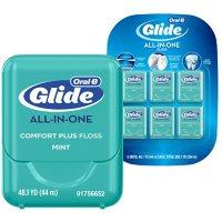 Oral-B Glide Pro-Health Comfort Plus Dental Floss, Mint (44 M, 6 pk.)