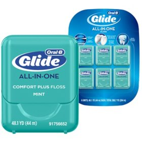 Oral-B Glide Pro-Health Comfort Plus Dental Floss, Mint (44 M, 6 pk.)
