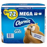 Charmin Ultra Soft Toilet Paper (264 sheets/roll, 18 Super Mega rolls)