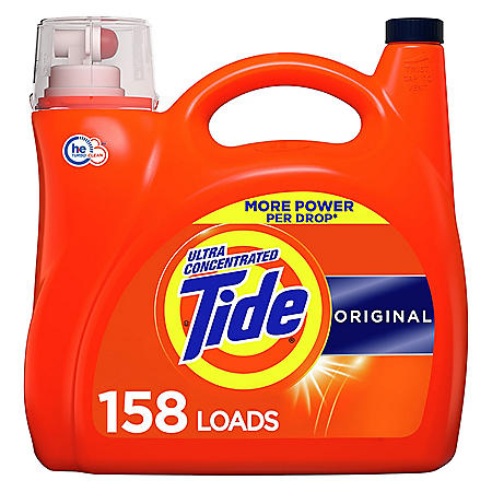 Tide Ultra Concentrated Liquid Laundry Detergent, Original (158 loads, 208 fl. oz.)