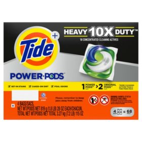Tide Hygienic Clean Heavy 10x Duty Power PODS Liquid Laundry Detergent Pacs, Original (68 ct.)