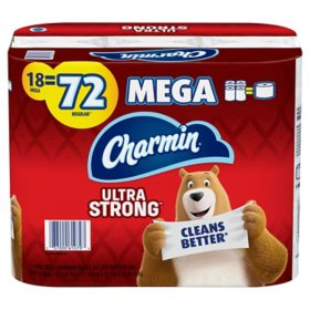 Charmin Ultra Strong Toilet Paper (18 Mega Roll, 265 Sheets Per Roll)