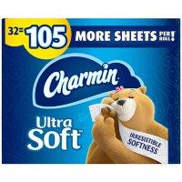 Charmin Ultra Soft Toilet Paper Super Plus Rolls (218 sheets/roll, 32 rolls)