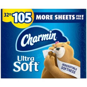 Charmin Ultra Soft Toilet Paper 32 Super Plus Roll, 218 Sheets Per Roll