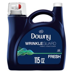 Downy WrinkleGuard Liquid Fabric Softener and Conditioner, Fresh (115 fl. oz.)