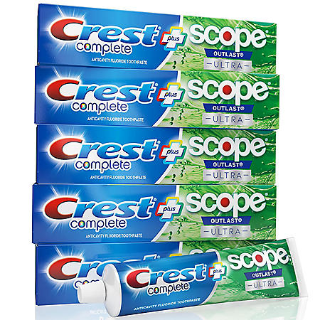 Crest Complete Whitening + Scope Toothpaste ( 6.5 oz., 5 pk.)