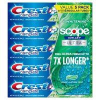 Crest Complete Whitening + Scope Toothpaste ( 6.5 oz., 5 pk.)