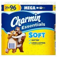 Charmin Essentials Soft Toilet Paper (24 mega rolls, 352 sheets/roll)