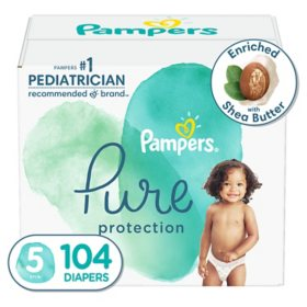 Pampers Pure Protection Diapers, Size 5, 27+ lbs. (104 ct.)