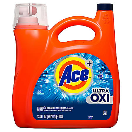 Ace Ultra Oxi HE Liquid Laundry Detergent (89 loads, 138 oz.)
