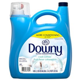 Downy Liquid Fabric Conditioner and Softener, Cool Cotton (165 oz., 244 loads)