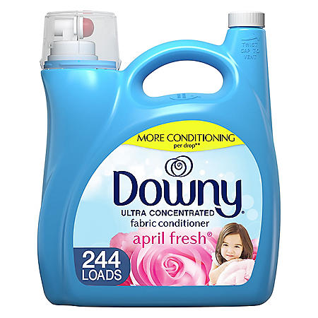 Downy Ultra Liquid Fabric Softener and Conditioner, April Fresh (165 oz., 244 loads)