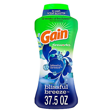 Gain Fireworks In-Wash Scent Booster Beads, Blissful Breeze (37.5 oz.)