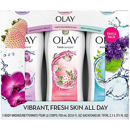 Olay Fresh Outlast Body Wash (23.6 fl. oz., 3 pk.)