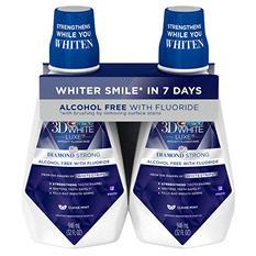 Crest 3D White Anticavity Fluoride Rinse, Clean Mint (32 fl. oz., 2 pk.)