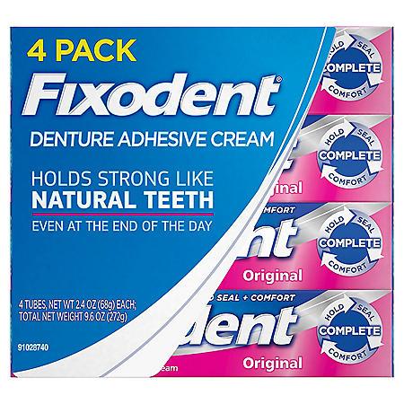 Fixodent Complete Original Denture Adhesive Cream (2.4 oz., 4 pk.)