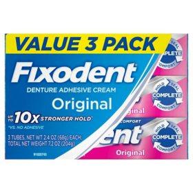 Fixodent Complete Original Denture Adhesive Cream (2.4 fl. oz., 3 pk.)