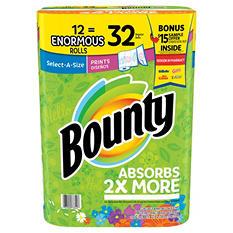 Bounty Enormous Roll Bonus Pack (12 rolls, 168 sheets per roll)