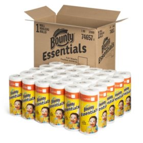 Bounty Essentials Paper Towels, 40 Sheets/Roll, 30 Rolls/Carton