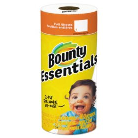 2-Ply 36 sheets per roll, 30 rolls Bounty Perforated Towel Rolls
