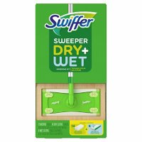 Swiffer Sweeper Dry + Wet Sweeping Kit (1 Sweeper, 14 Dry Cloths, 6 Wet Cloths)