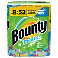 Bounty Select-A-Size Paper Towels, Print (12 Enormous Rolls = 32 Regular Rolls)