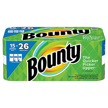 Bounty Select-A-Size Paper Towels, White (15 Jumbo Rolls)