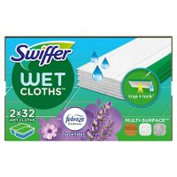 Swiffer Sweeper Wet Mopping Cloth Refills, Lavender Vanilla and Comfort (64 ct.)