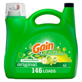 Gain + AromaBoost Ultra Concentrated Liquid Laundry Detergent, Original, (146 lds, 200 oz.)