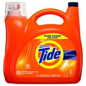 Tide Ultra Concentrated Liquid Laundry Detergent, Original, (146 lds, 200 oz.)