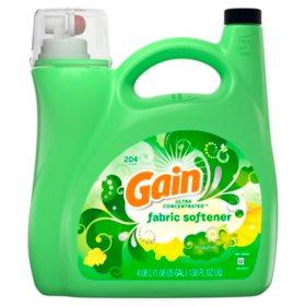 Gain Ultra Concentrated Liquid Fabric Softener, Original (138 fl. oz., 204 loads)