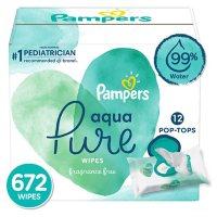 Pampers Aqua Pure Sensitive Baby Wipes 12X Pop-Top (672 ct.)