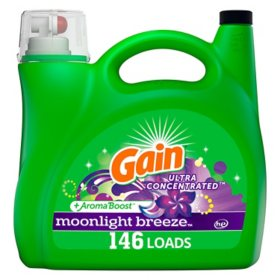 Gain Ultra Concentrated Liquid Laundry Detergent, Moonlight Breeze (146 loads, 200 oz.)