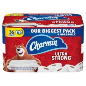 Charmin Ultra Strong Toilet Paper, 308 Sheets per Roll (36 Mega Rolls)