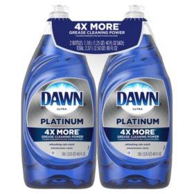 Dawn Platinum Dishwashing Liquid Dish Soap, Refreshing Rain (40 oz., 2 pk.)