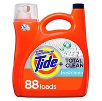 Tide Total Clean Ultra Concentrated Liquid Laundry Detergent, Fresh Linen (88 loads,150 fl oz.)