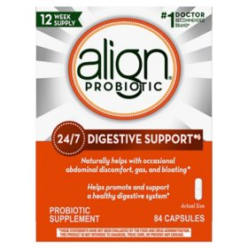Align Probiotic Supplement for Daily Digestive Health (84 ct.)