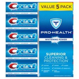 Crest Pro-Health Whitening Power Toothpaste (6.3 oz., 5 pk.)