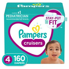 Pampers Cruisers One-Month Supply Diapers (Choose Your Size)