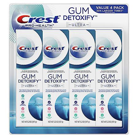 Crest Gum Detoxify Deep Clean Toothpaste (5.2 oz, 4 pk)