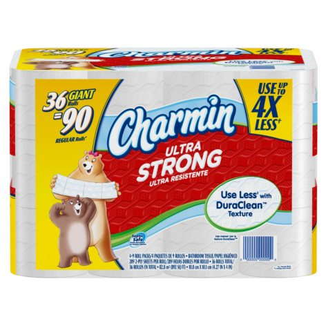 Charmin Ultra Strong Bath Tissue - 36 Giant Rolls