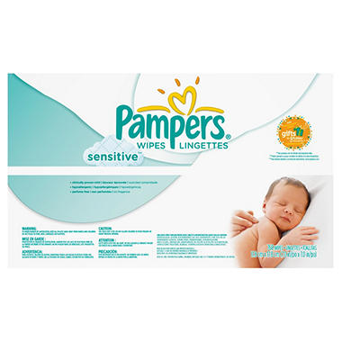 Pampers Sensitive Baby Wipes, 768 ct.