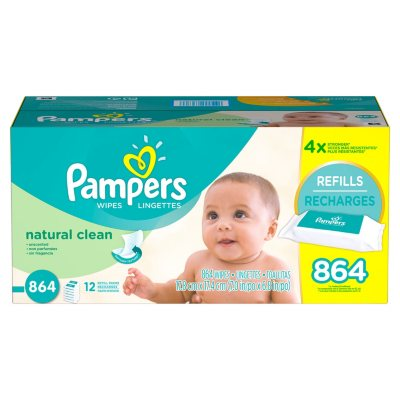 Pampers Natural Clean Baby Wipes (864 ct.)