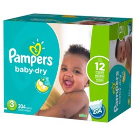 204 Count Clean and dry overnight protection Size 3 Baby
